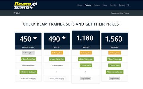 Screenshot of Pricing Page beamtrainer.com - Timing system at best price | Beam trainer - captured Nov. 3, 2014