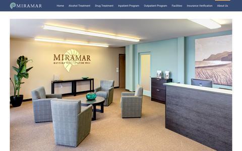 Screenshot of About Page miramaraddictionandrehabcenters.com - About Us | Miramar - Drug and Alcohol Rehab Centers - captured Feb. 14, 2016