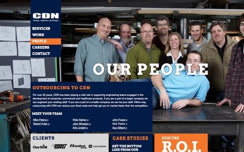 Screenshot of Team Page cdn-inc.com - UsCDN | CDN - captured Oct. 3, 2014
