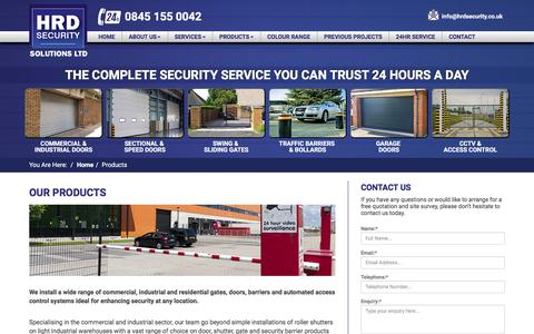 Screenshot of Products Page hrdsecuritysolutionsltd.co.uk - Security Products | HRD Security Solutions Ltd in Kent - captured July 10, 2016