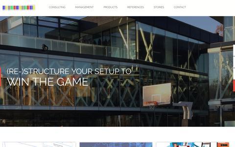 Screenshot of Home Page sports-admin.com - SAC - Digital Sport Services - captured March 15, 2016
