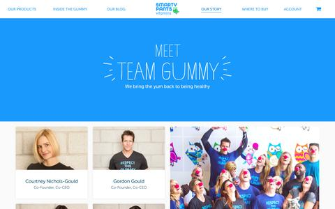 Screenshot of Team Page smartypantsvitamins.com - Our Team | SmartyPants - captured March 5, 2016