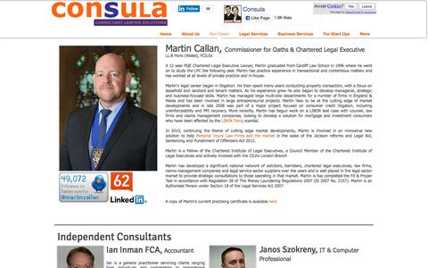 Screenshot of Team Page consula.co.uk - Our Consultant Lawyers - captured Nov. 10, 2016