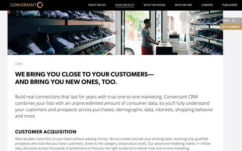 Customer Relationship Management | CRM Solution | Conversant | Conversant