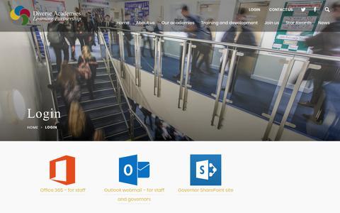 Screenshot of Login Page dalp.org.uk - Login - Diverse Academies Learning Partnership - captured Oct. 24, 2018