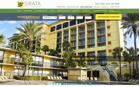 Screenshot of Maps & Directions Page sirata.com - Resort in St. Pete Beach | St. Petersburg Hotel | Sirata Beach Resort - captured Oct. 9, 2014