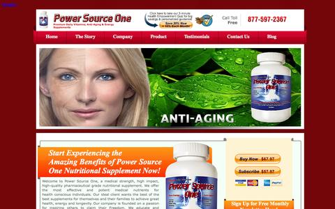 Screenshot of Home Page power-source-one.com - Power Source One Vitamins Nutritional Supplement Energy supplementPower Source One | Vitamins & Energizing + Anti-Aging Supplements - captured Sept. 30, 2014