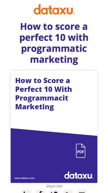 How to Score a Perfect 10 With Programmatic Marketing