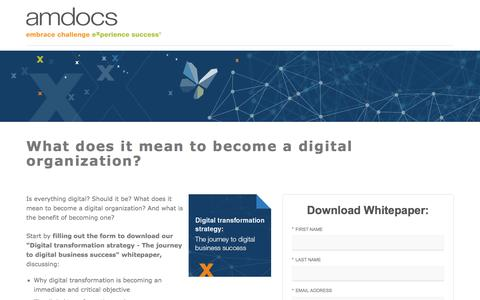 Amdocs Digital Experience - Digital Services