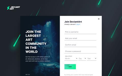 Screenshot of Signup Page deviantart.com - Join | DeviantArt - captured Aug. 19, 2019