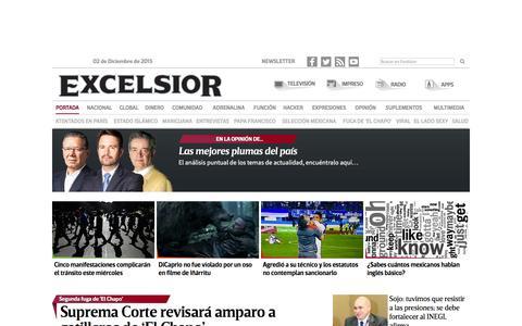 Screenshot of Home Page excelsior.com.mx - Excélsior | El periódico de la vida nacional - captured Dec. 2, 2015