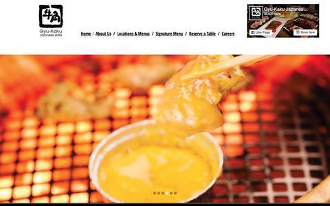 Screenshot of Home Page gyu-kaku.com - Gyu-Kaku Japanese BBQ - captured June 25, 2017