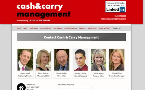 Screenshot of Contact Page cashandcarrymanagement.co.uk - Contact Cash & Carry Management - Cash & Carry Management - captured Oct. 2, 2014