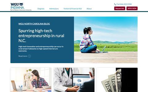 Screenshot of Blog wgu.edu - Blog | Western Governors University | WGU North Carolina - captured June 21, 2019