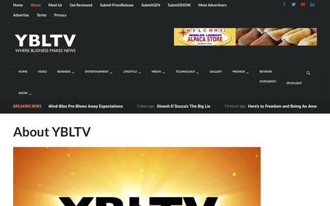 Screenshot of About Page ybltv.com - About YBLTV - YBLTV - captured Aug. 4, 2017