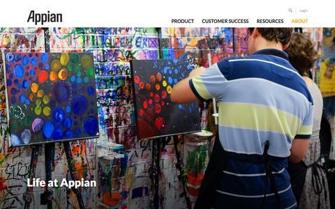 Screenshot of Jobs Page appian.com - Working At Appian | Appian - captured Oct. 28, 2014