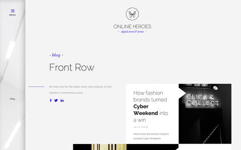Screenshot of Blog onlineheroes.com - Online Heroes - Blog - captured Dec. 11, 2018