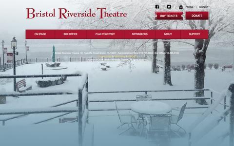 Screenshot of Blog brtstage.org - Bristol Riverside Theatre - captured Feb. 8, 2016