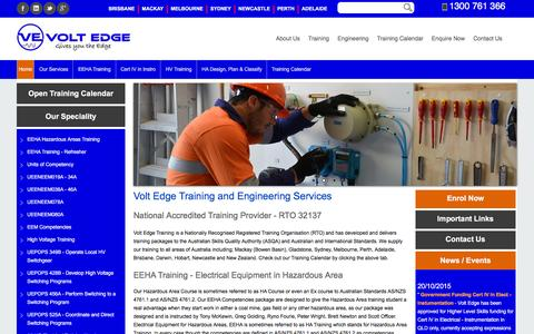 Screenshot of Locations Page voltedge.com.au - Volt Edge - RTO provides Electrical Training - EEHA Training (Hazardous Area) Cert IV, High Voltage Training, Instrumentation Training Cert IV through out Australia - captured Feb. 17, 2016