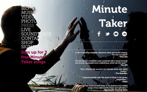 Screenshot of Press Page minutetaker.net - MINUTE TAKER | PRESS - captured Jan. 31, 2017
