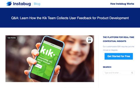Screenshot of Team Page instabug.com - Q&A: Learn How the Kik Team Collects User Feedback for Product Development | Instabug Blog - captured Dec. 3, 2019