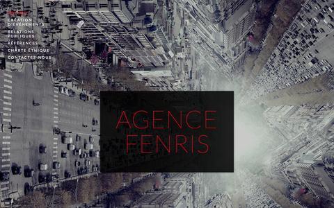 Screenshot of Home Page agence-fenris.com - Agence Fenris - captured Oct. 17, 2015