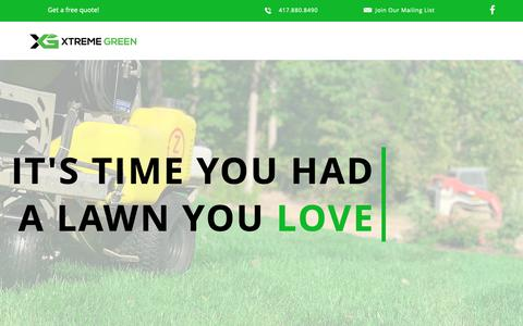 Screenshot of About Page xtremegreen.co - Why Us? | Xtreme Green - captured May 30, 2019