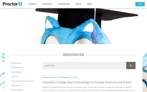 Screenshot of Case Studies Page proctoru.com - Case Studies Archives   ProctorU - captured Oct. 15, 2016