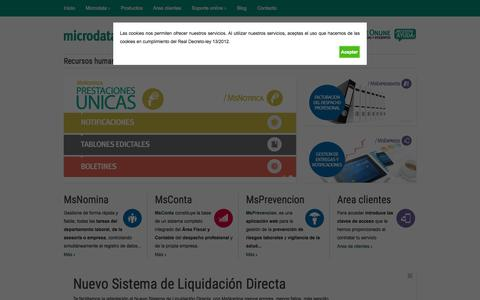 Screenshot of Home Page microdata.es - Microdata - captured Sept. 6, 2015