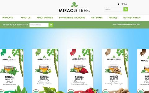 Screenshot of Products Page miracletree.co - Collections                           | Miracle Tree - captured June 26, 2016