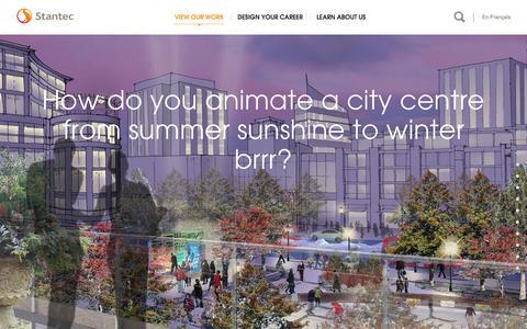 Screenshot of Home Page stantec.com - Saskatoon City Centre Plan - Stantec - captured Oct. 21, 2015