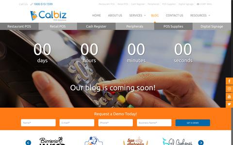Screenshot of Blog calbizpos.com - Blog - captured Oct. 21, 2018