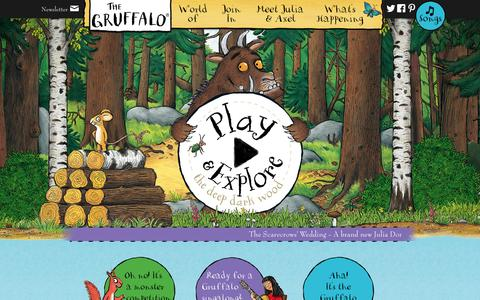 Screenshot of Home Page gruffalo.com - The Gruffalo - Official Website - captured Sept. 23, 2014