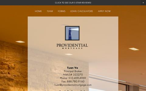 Screenshot of Team Page providentialmortgage.com - TEAM Ń Providential Mortgage - captured Dec. 14, 2015