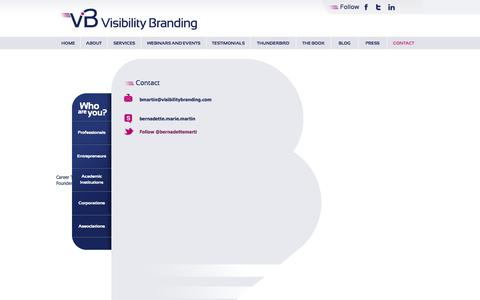 Screenshot of Contact Page visibilitybranding.fr - Contact | Visibility Branding - captured Oct. 9, 2014