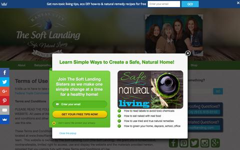 Screenshot of Terms Page thesoftlanding.com - Terms of Use | The Soft Landing - captured Oct. 2, 2015