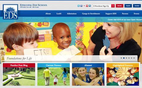 Screenshot of Home Page edsaugusta.com - Home | Episcopal Day School - captured Oct. 2, 2014