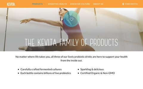 Screenshot of Products Page kevita.com - Products - KeVita - captured June 23, 2018