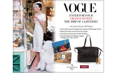 Screenshot of Landing Page vogue.com - Vogue Sweepstakes - captured Sept. 24, 2016