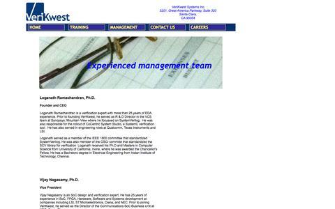 Screenshot of Team Page verikwest.com - VeriKwest Management - captured Oct. 1, 2014