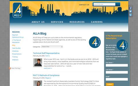 Screenshot of Blog all4inc.com - ALL4 Blog - captured Feb. 29, 2016