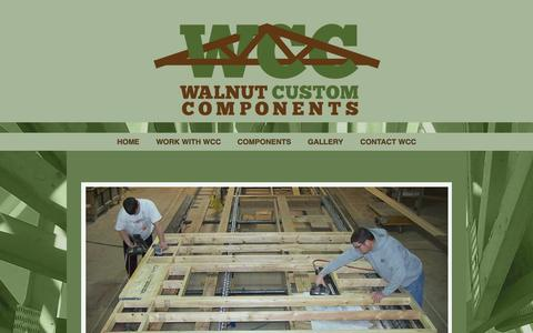 Screenshot of Home Page walnutcustomhomes.com - Walnut Custom Components | For over 60 years, our mission is to provide products and services of the highest quality in the industry. - captured Aug. 16, 2015