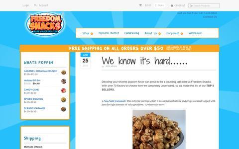 Screenshot of Press Page freedomsnacks.com - Pop News Archives - Freedom Snacks - captured Nov. 25, 2016