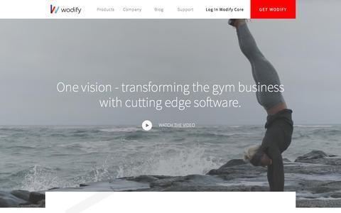 Screenshot of About Page Jobs Page Team Page wodify.com - Cutting Edge Gym Software to Transform Your Business | Wodify - captured Jan. 10, 2018