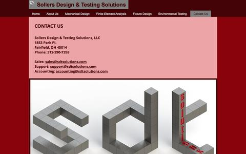Screenshot of Contact Page sdtsolutions.com - Sollers Design & Testing Solutions Contact Us - captured Dec. 3, 2016