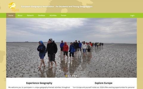 Screenshot of Home Page egea.eu - European Geography Association for students and young geographers - captured Oct. 1, 2014