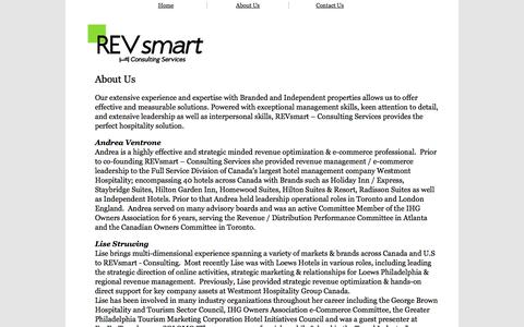 Screenshot of About Page revsmart.ca - REVsmart - Consulting Services - About Us - captured Oct. 9, 2014