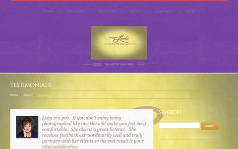 Screenshot of Testimonials Page imagesbylucila.com - Testimonials  |  Images by Lucila - captured Sept. 30, 2014