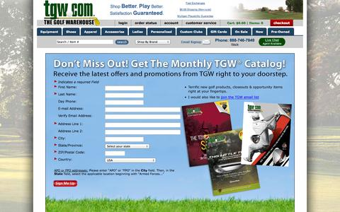 Screenshot of Signup Page tgw.com - Catalog Sign-up - captured Sept. 18, 2014