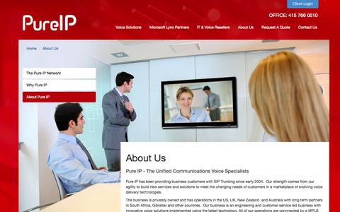 Screenshot of About Page pure-ip.com - About Us | Pure IP - captured Sept. 30, 2014